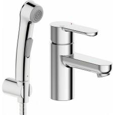 Смеситель Bravat Stream-D F137163C-1 для раковины с гигиеническим душем
