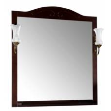 Зеркало АСБ Мебель Флоренция Квадро 80 (бук тироль)