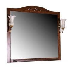 Зеркало АСБ Мебель Флоренция Квадро 90 (бук тироль)