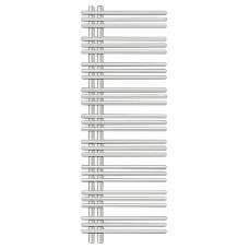Полотенцесушитель электрический Zehnder Yucca asymmetric (YAER-130-50/RD) правый