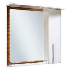 Зеркальный шкаф RUNO Зебрано 60