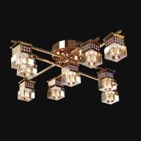 Люстра Геометрия 1-8231-8+1-FG-LED Y G4