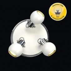 Спот Модерн 6-5244-3-CR+WH GU10 LED