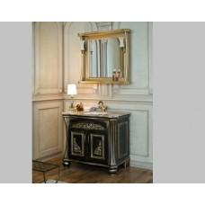 Мебель для ванной АЛЛИГАТОР Classic 90E (черный с золотой патиной)
