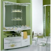 Мебель для ванной АКВАТОН Корнер 100 (белый) 1A004701KR01L