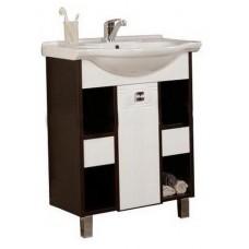 Мебель для ванной АКВАТОН Крит 65 МН (белый/венге) 1A152401KT500