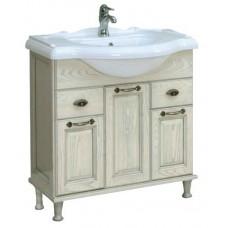 Мебель для ванной АКВАТОН Жерона 85 (белое серебро) 1A158501GEM20