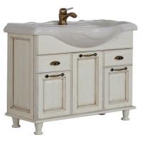 Мебель для ванной АКВАТОН Жерона 105 (белое серебро) 1586-1.M02