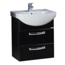 Мебель для ванной АКВАТОН Ария 50 М (черный) 1400-1.95