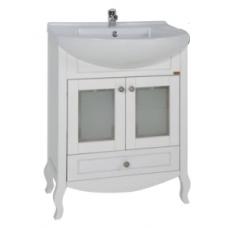 Тумба с раковиной АСБ Мебель Флоренция 65 (белый) витраж