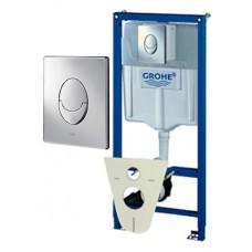 Система инсталляции для унитазов Grohe Rapid SL 38750001 4 в 1 с кнопкой смыва