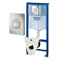 Система инсталляции для унитазов Grohe Rapid SL 38813001 4 в 1 с кнопкой смыва